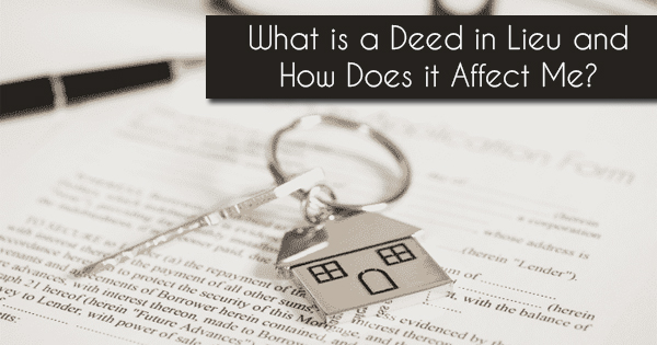 how does a deed in lieu work